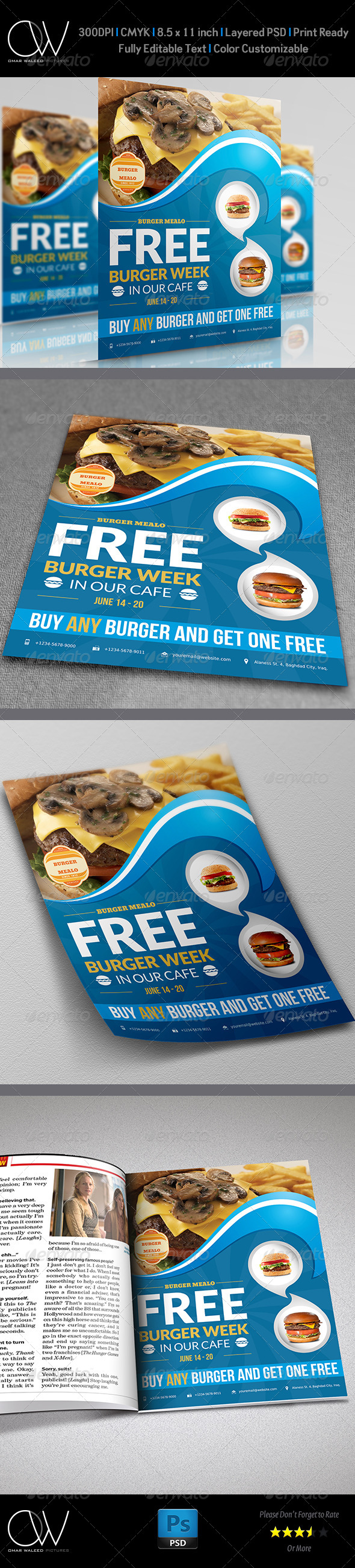 Burger Restaurant Flyer Vol.2 - Restaurant Flyers