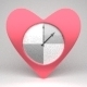 Heart-Shaped Clock - 3DOcean Item for Sale