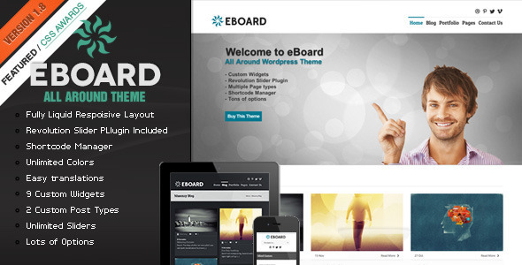 eBoard - All Around Wordpress Theme - Corporate WordPress