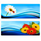 Nature Banners with Color Flowers Vector - GraphicRiver Item for Sale