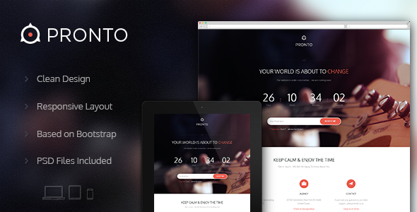 ThemeForest Pronto Multipurpose Coming Soon Page 4954517
