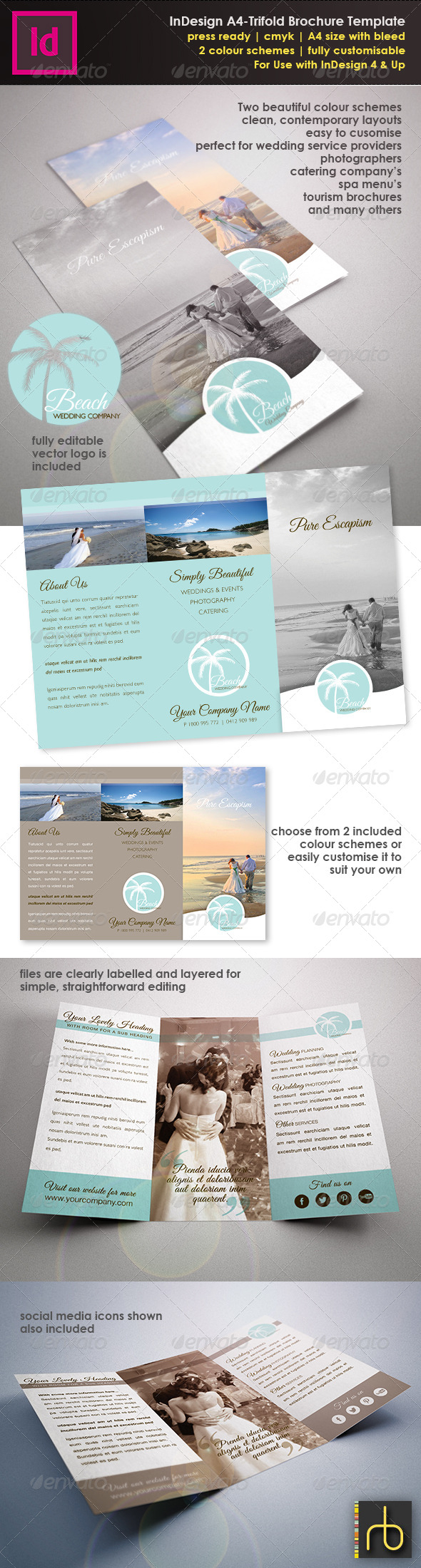 GraphicRiver InDesign A4 Trifold Brochure Template 4836202