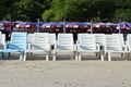 White Chairs at the Beach. - PhotoDune Item for Sale