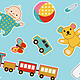 Baby Patterns; 4 Seamless Vectors - GraphicRiver Item for Sale