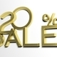 3d letters forming twenty percent symbol and the word sale - PhotoDune Item for Sale