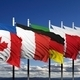 Flags of G8 members against blue sky - PhotoDune Item for Sale