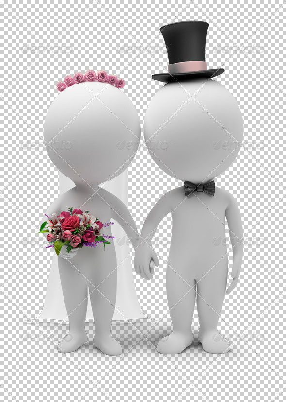 GraphicRiver 3D Small People Wedding 4958916