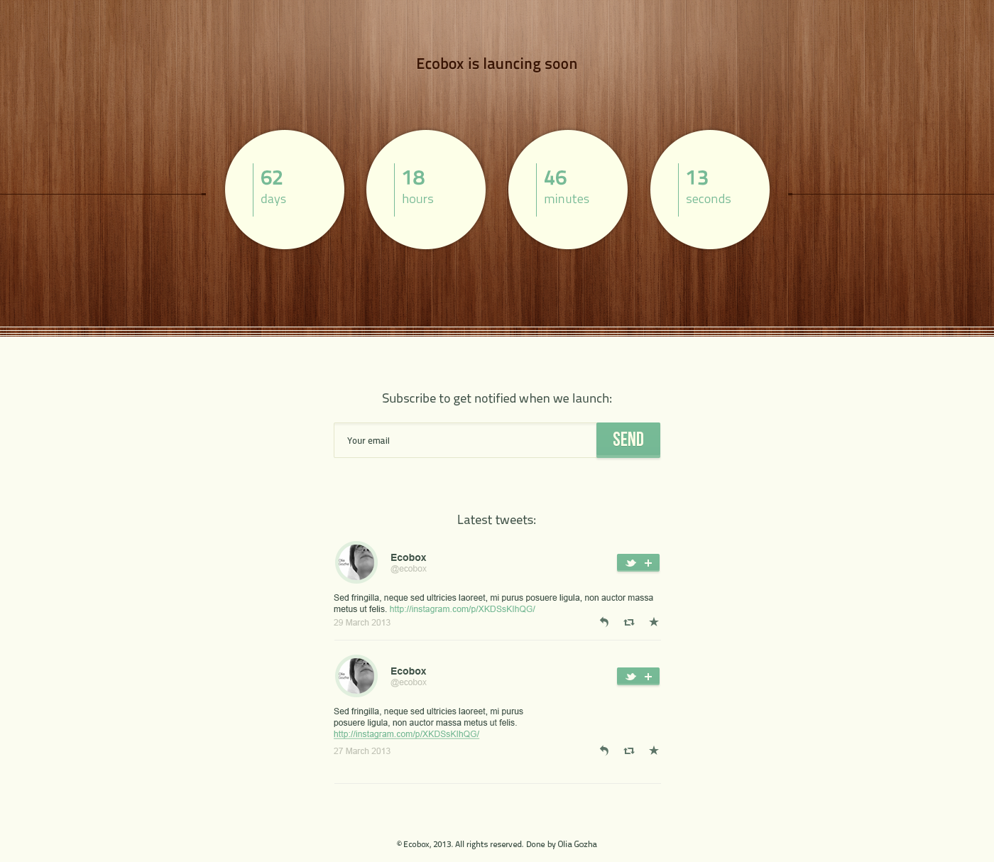 Ecobox - Eco Friendly Business PSD Template