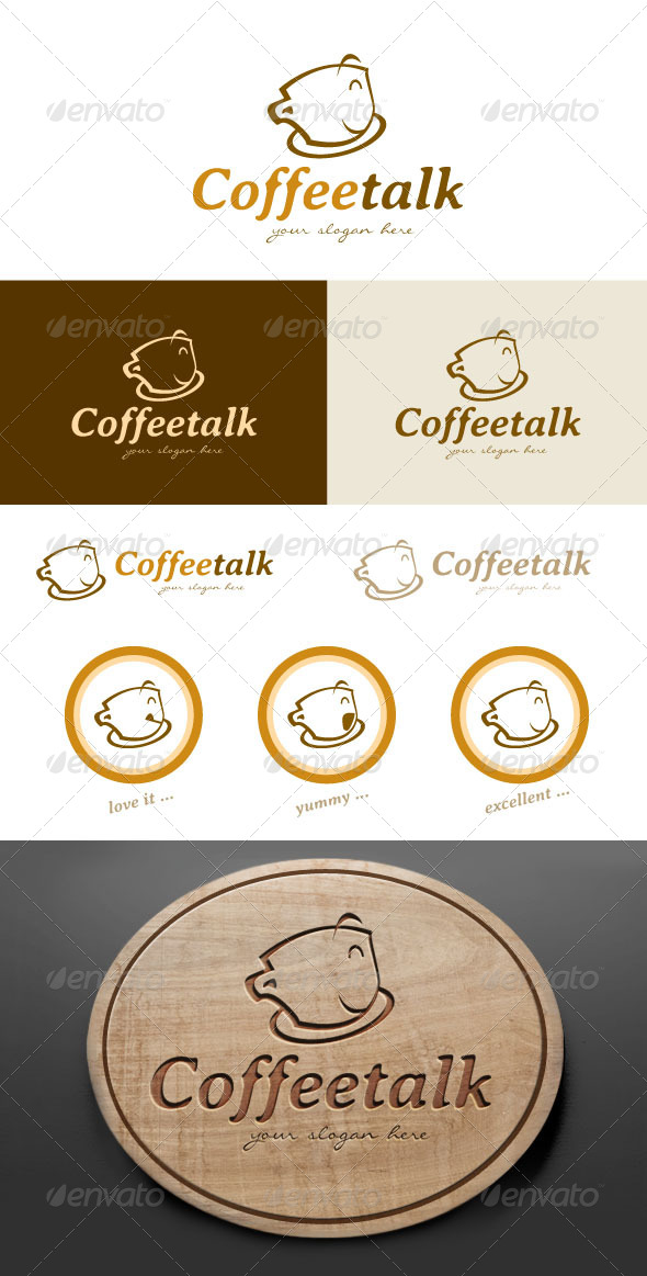 GraphicRiver Coffee Cafe Logo Design 4918238