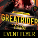 Great Rider Party Flyer Template - GraphicRiver Item for Sale