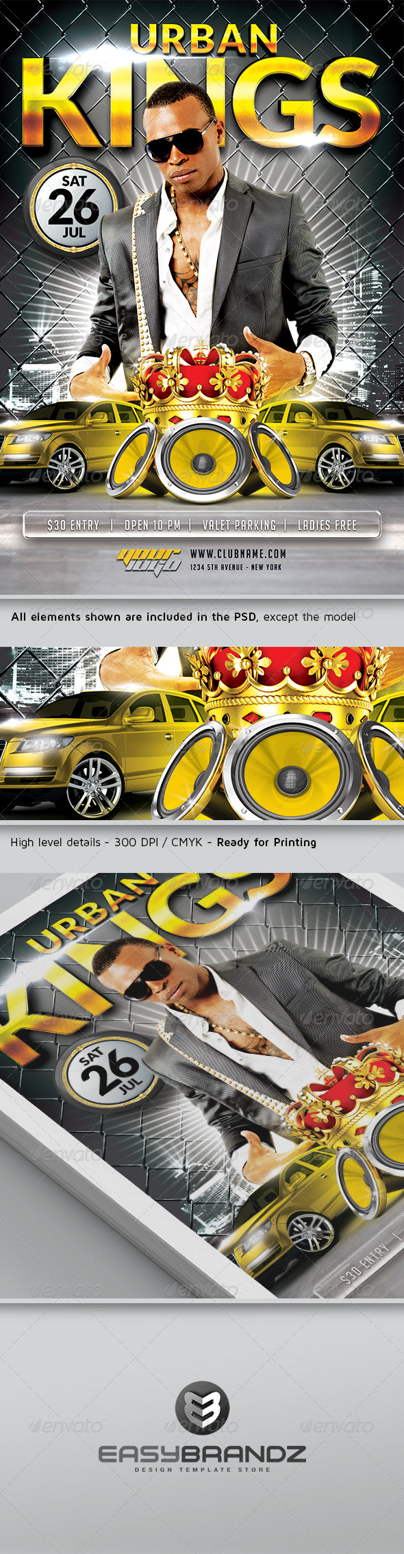 GraphicRiver Urban Kings Flyer Template 4963139