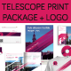 Telescope Print Package + Logo - GraphicRiver Item for Sale