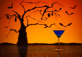Cobalt Martini in Halloween setting - PhotoDune Item for Sale