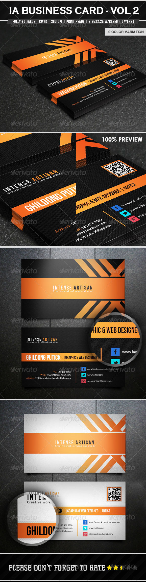 Intense Artisan Business Card - Vol 1 - Corporate Business Cards