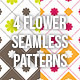 Flower Square Seamless Pattern Background - GraphicRiver Item for Sale