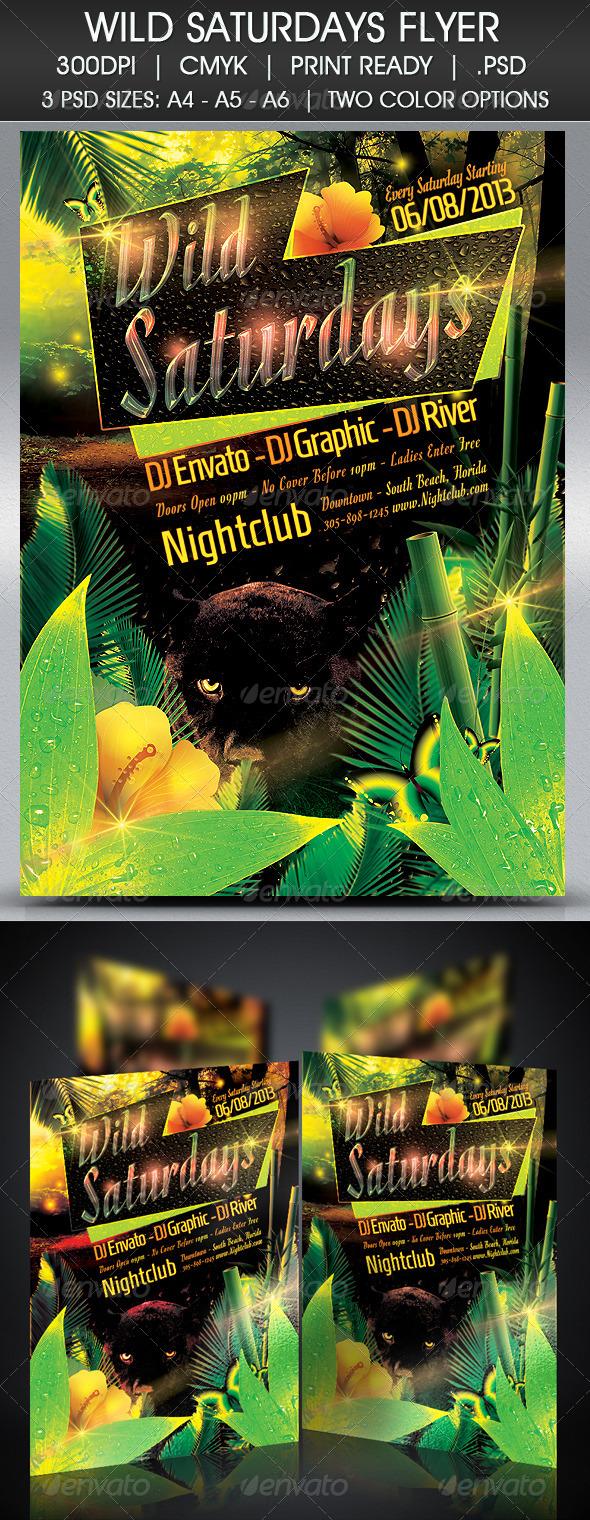 GraphicRiver Wild Saturdays Flyer 4888836