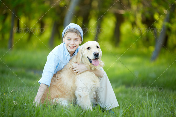 Love to dog - Stock Photo - Images