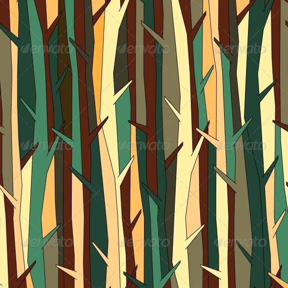 GraphicRiver Trees Pattern Background 4966638