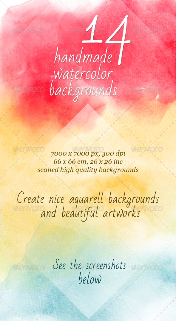 GraphicRiver 14 Watercolor Artistic Backgrounds 4967643