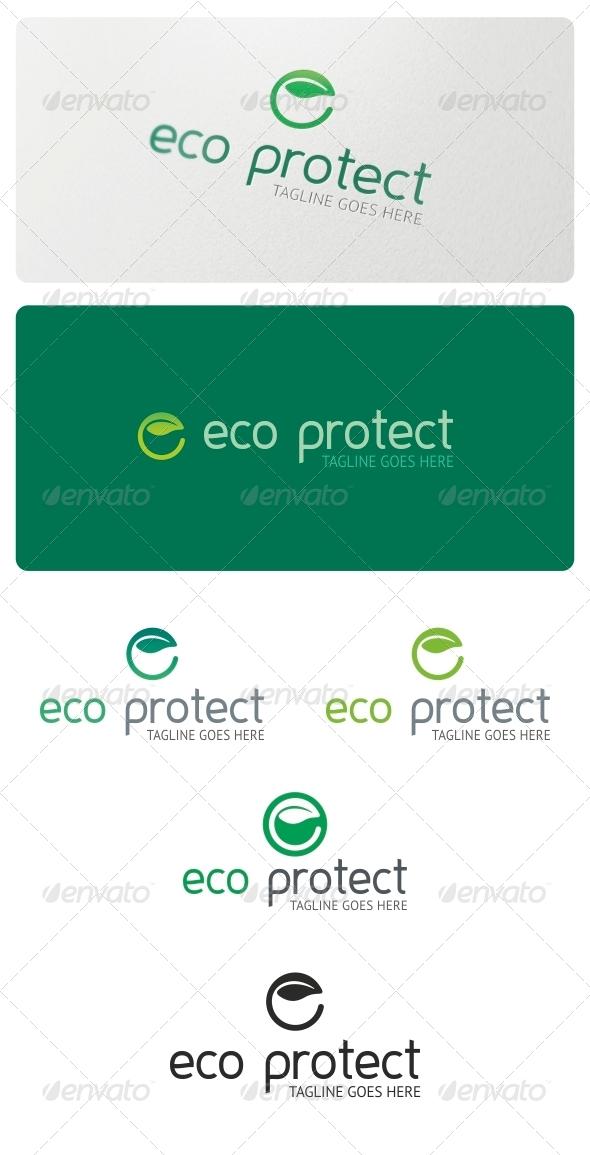 GraphicRiver Eco Protect Logo Template 4967692