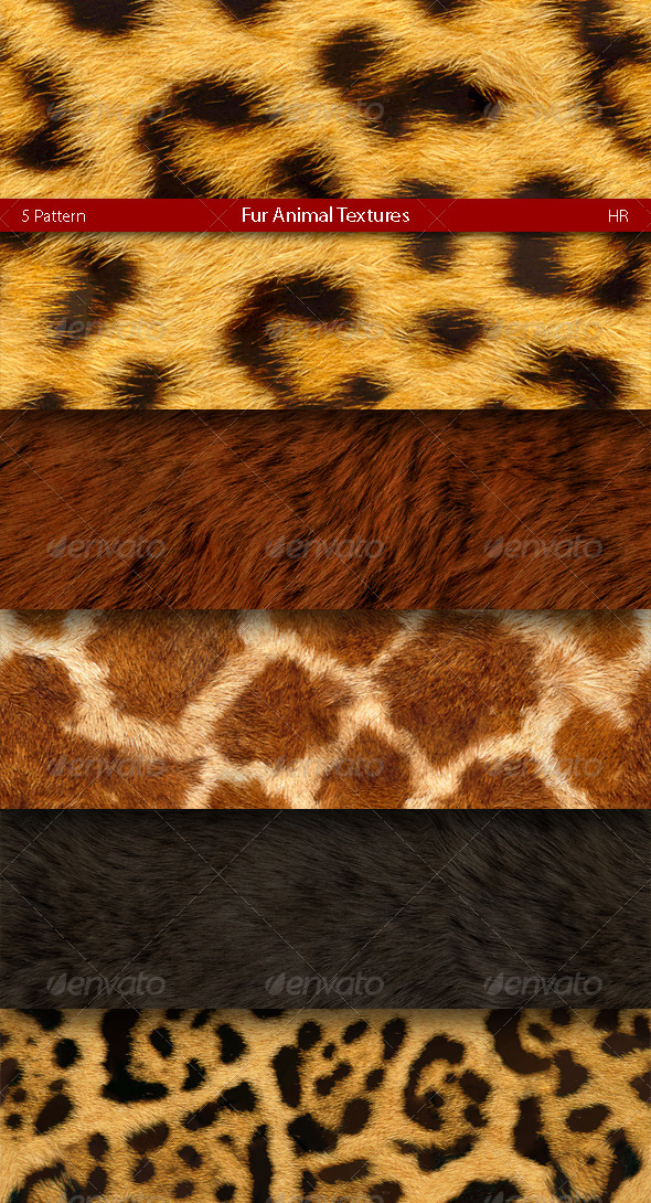 GraphicRiver Fur Animal Patterns 4967799