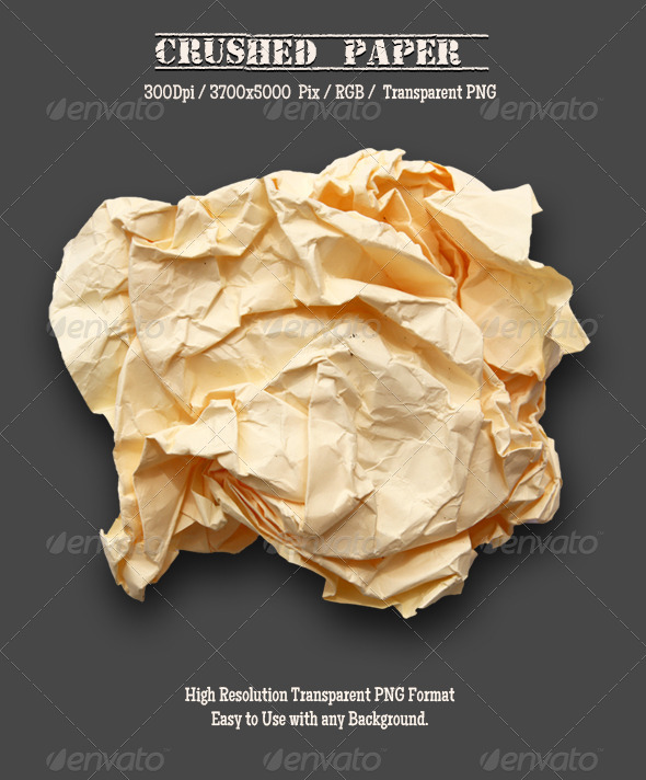 Crushed Paper - Miscellaneous Isolated Objects