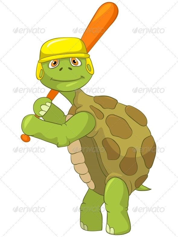 GraphicRiver Turtle Baseball Player 4968650