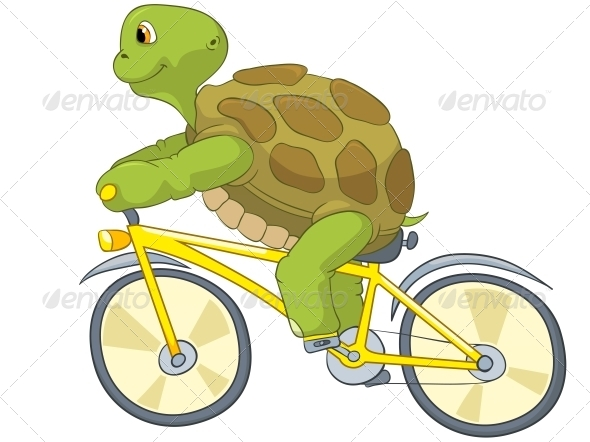 GraphicRiver Turtle Biker 4968660