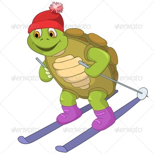 GraphicRiver Turtle Skiing 4968670