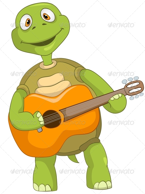 GraphicRiver Turtle Guitarist 4968688