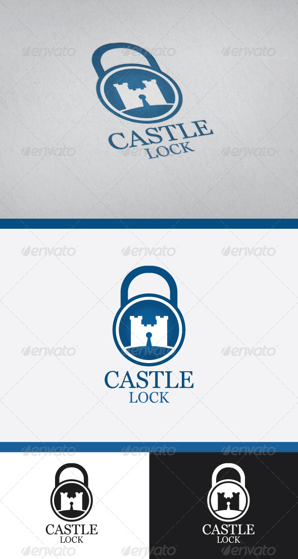 GraphicRiver Castle Lock Logo Design 4968799