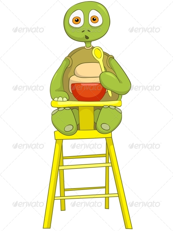 GraphicRiver Turtle Baby Eating 4968900