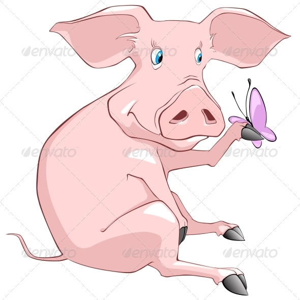 GraphicRiver Cartoon Character Pig 4969240