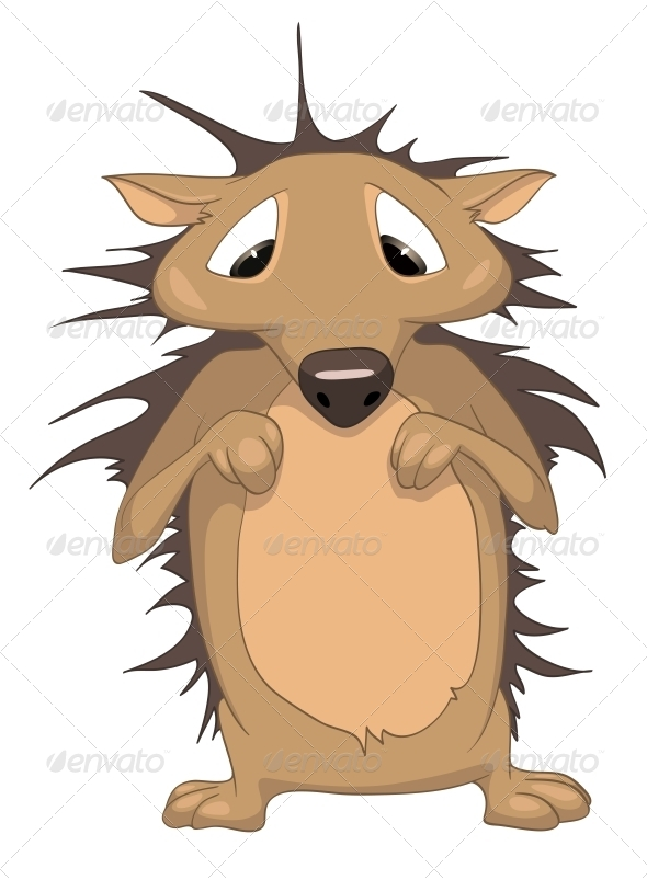 GraphicRiver Cartoon Character Hedgehog 4969308