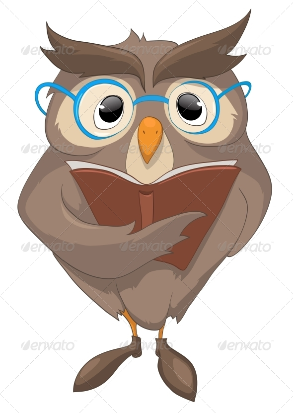 GraphicRiver Cartoon Character Funny Owl 4969430