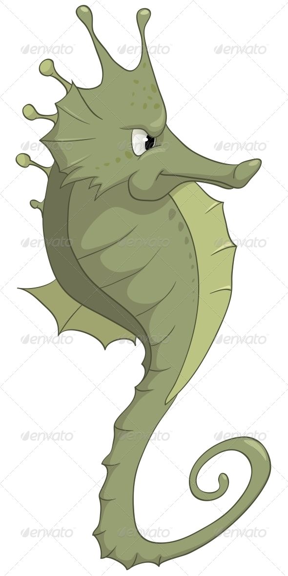 GraphicRiver Cartoon Character Seahorse 4969471