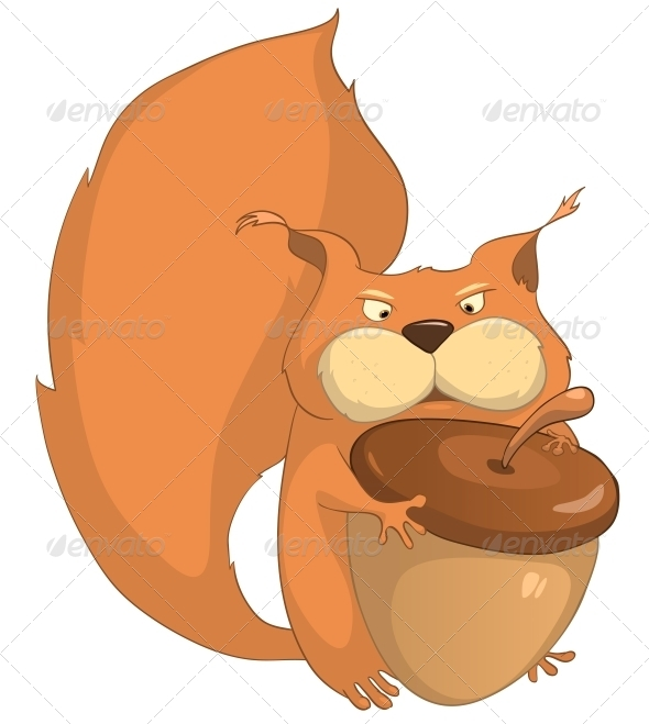 GraphicRiver Cartoon Character Squirrel 4969486