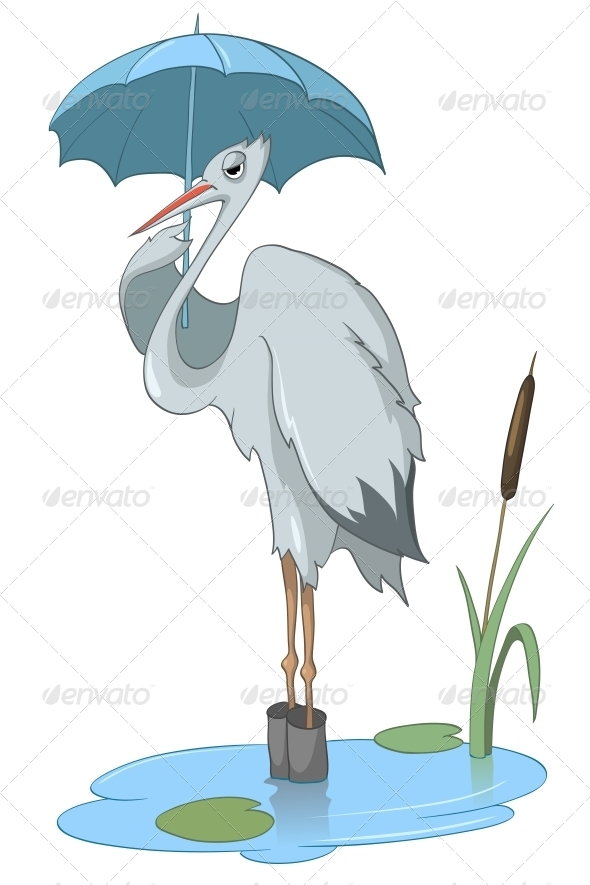 GraphicRiver Cartoon Character Stork 4969492