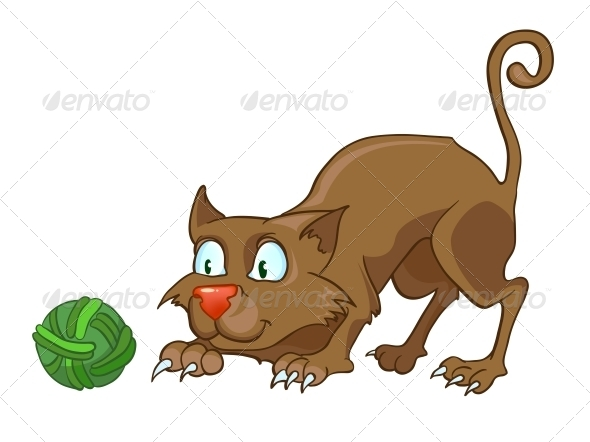 GraphicRiver Cartoon Character Cat 4969540