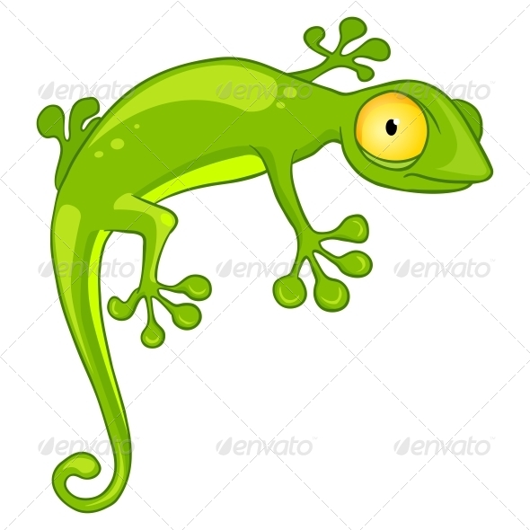 GraphicRiver Cartoon Character Lizard 4969973