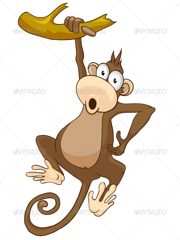 GraphicRiver Cartoon Character Monkey 4970037