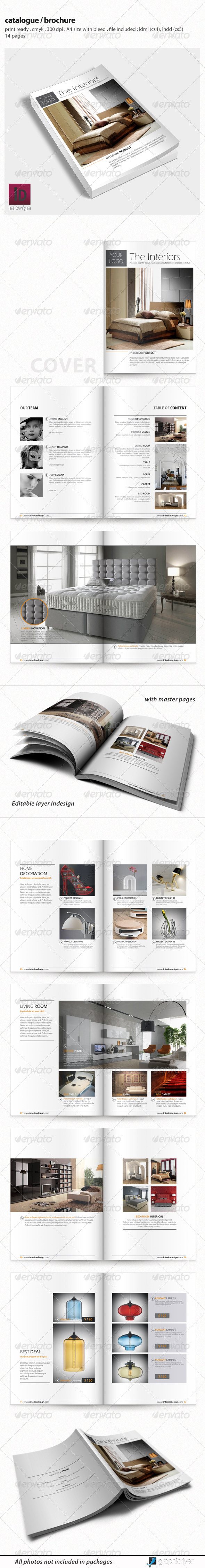 GraphicRiver Clean Catalogue Brochure Template 4970111