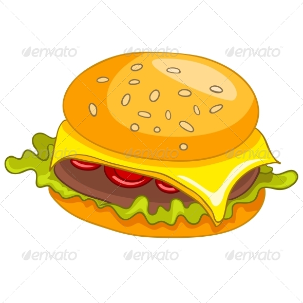 GraphicRiver Cartoon Food Hamburger 4970423