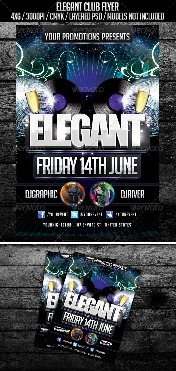 Elegant Nightclub Flyer - Clubs & Parties Events