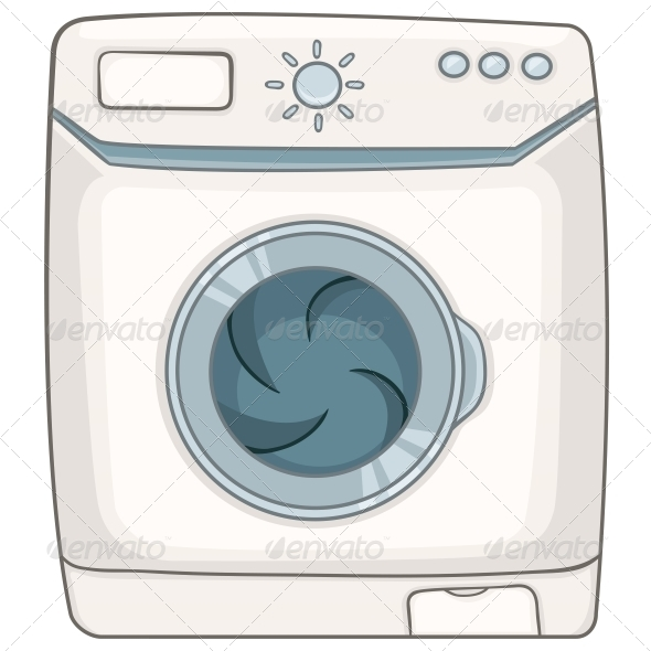 GraphicRiver Cartoon Appliances Washing Machine 4970537