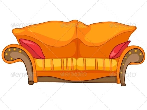 GraphicRiver Cartoon Home Furniture Sofa 4970707