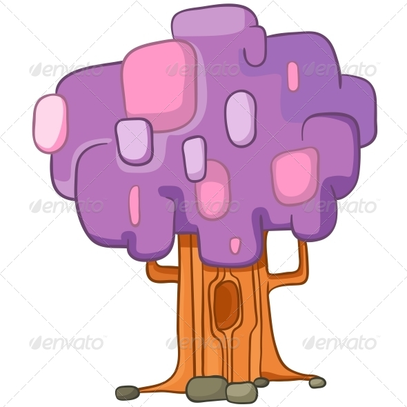 GraphicRiver Cartoon Tree 4970865