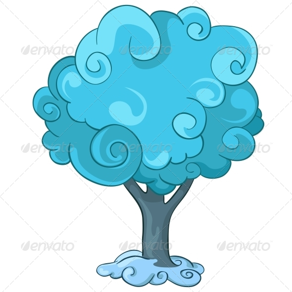 GraphicRiver Cartoon Tree 4970870