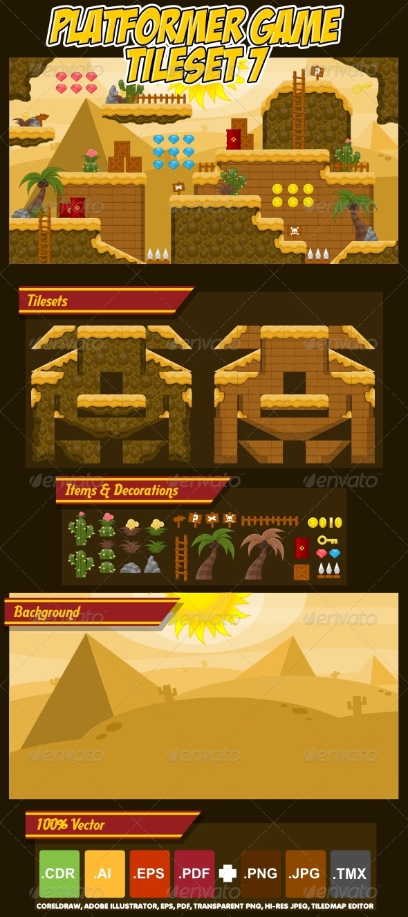 GraphicRiver Platformer Game Tile Set 7 4970917