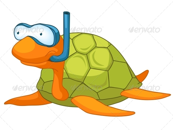 GraphicRiver Cartoon Character Turtle 4970955